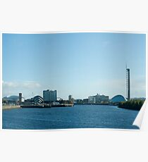 Glasgow Clydeside skyline Poster