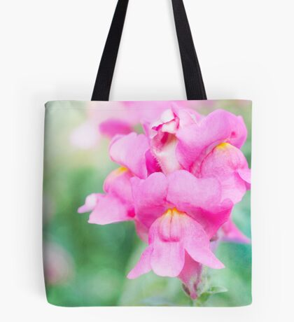 Pretty Pink Snapdragons Tote Bag