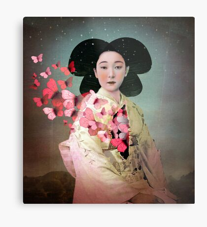 Madame Butterfly Metal Print