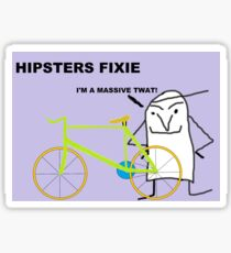 Hipster fixie Sticker