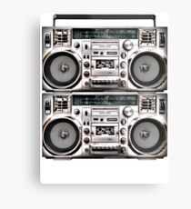 Two Retro Boomboxes Metal Print