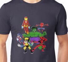 super hero mayhem Unisex T-Shirt