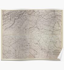 Civil War Maps 1444 Portions of Virginia and North Carolina embracing Richmond Lynchburg Va and Goldsboro Salisbury NC Poster