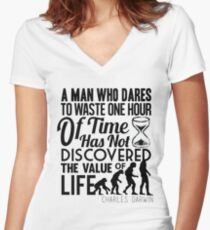 """""""A Man Who..."""" Women's Fitted V-Neck T-Shirt"""