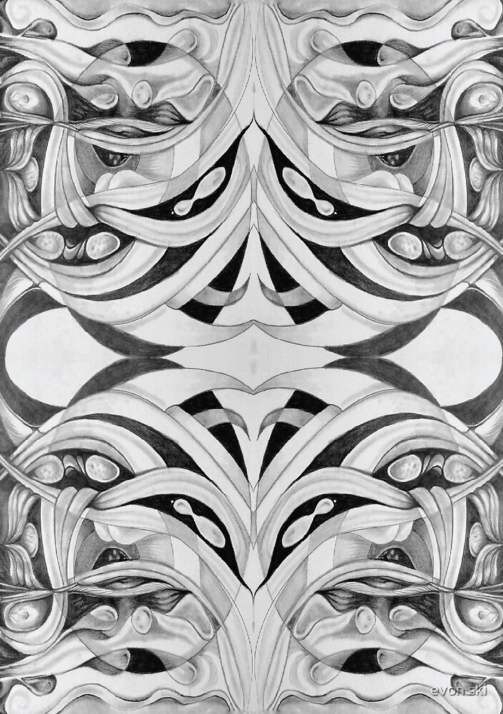 a gate of many faces . . . . by evon ski