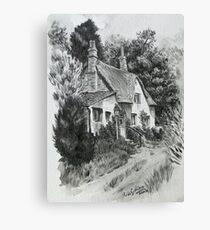 Devon cottage. Canvas Print