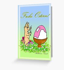 female Easter-Art Greeting Card
