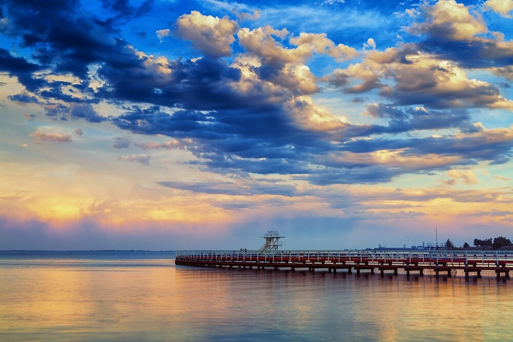 Geelong Sunset Eastern Pool by Neil Robinson