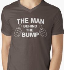 The man behind the bump Men's V-Neck T-Shirt