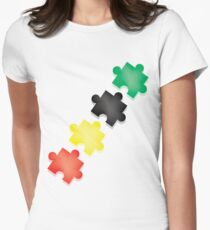Puzzle Pieces Womens Fitted T-Shirt