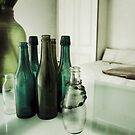 Bottles on the table by Marlene Hielema