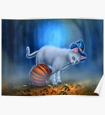Candy Thief - Halloween Cat with Candy Poster