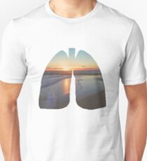 Sunset Beach Lungs Unisex T-Shirt