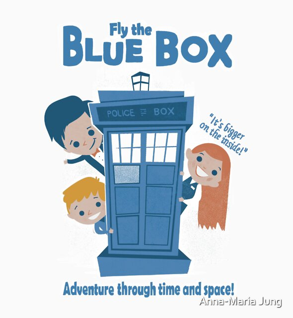 Fly the Blue Box! by Queenmob
