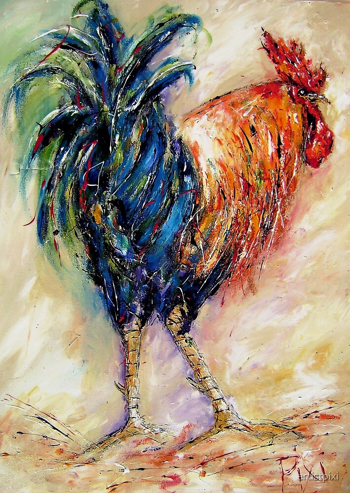 King rooster  by artistpixi