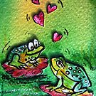 Loving frogs  by artistpixi