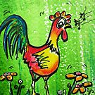 Singing cartoon chicken  by artistpixi
