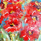 red floral splash  by artistpixi