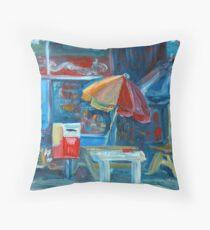 City Shop Original Oil Painting Ekaterina Chernova Throw Pillow