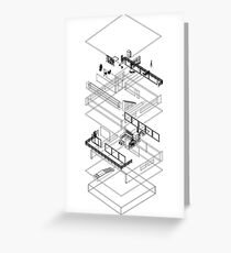 Architectural Exploded Line Graphic Greeting Card