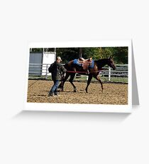 Quarter Horse Early Morning Warm Up Greeting Card