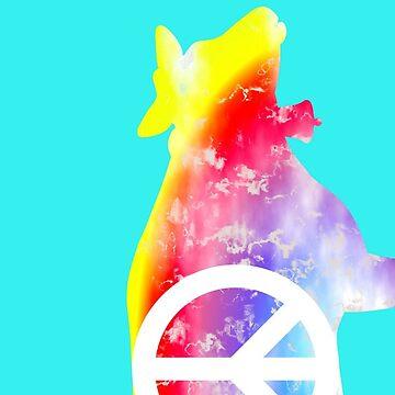 GROOVY MOO Phone Case rainbow peace cow by alpenmama