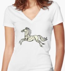 Horse of Rohan Women's Fitted V-Neck T-Shirt
