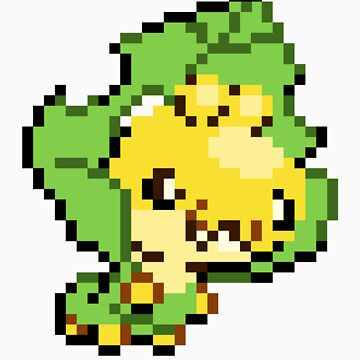 Pokemon - Sewaddle Sprite by ffiorentini