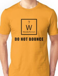 Wonderflonium: Do Not Bounce! - Doctor Horrible Inspired Shirt! Unisex T-Shirt