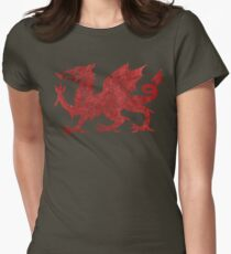 Welsh Red Dragon Women's Fitted T-Shirt