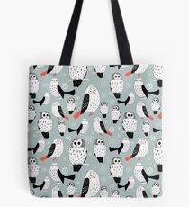 texture of white owls Tote Bag