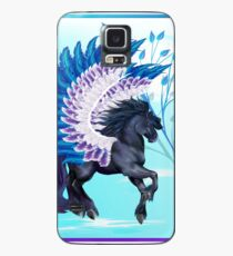 Funda/vinilo para Samsung Galaxy Blue Winged Pegasus