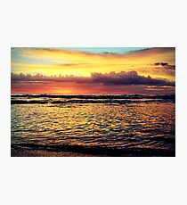 Golden morning Photographic Print