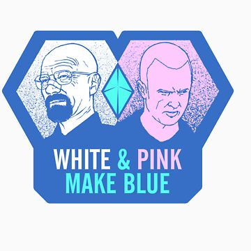 White & Pink Make Blue Sticker by tpbiv
