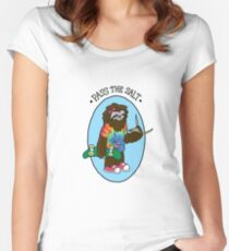 Pass The Salt - Stoner Sloth Fitted Scoop T-Shirt