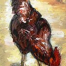 Demure chicken  by artistpixi