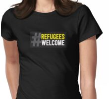 Refugees Welcome Womens Fitted T-Shirt