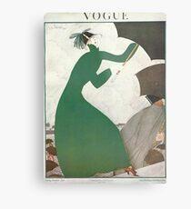 Vogue Cover 1921 Parasol by Lepape Metal Print