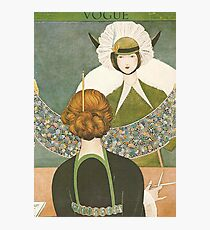 Vogue Cover 1917 Lace Bonnet Photographic Print