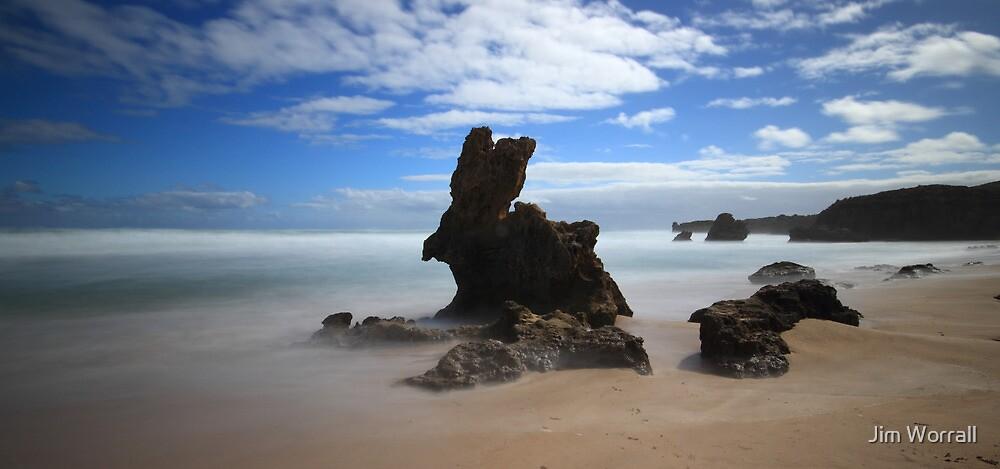Bunny Rock - Montforts Beach by Jim Worrall