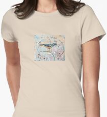Wall Bird Womens Fitted T-Shirt