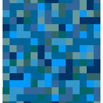 Pixels - Blue by lrtse