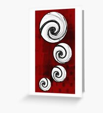 Swirling Round Greeting Card