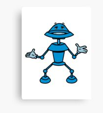 Robot funny cool toys funny comic Canvas Print