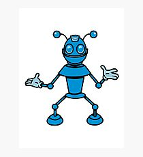 Robot funny cool toys funny antennas comic Photographic Print