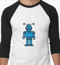 Funny cool robot toy fun Men's Baseball ¾ T-Shirt