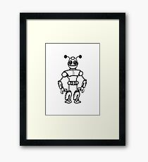 Funny cool robot toy fun Framed Print