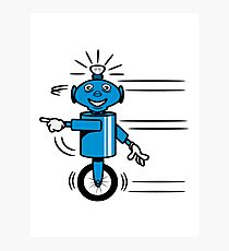 Robot funny cool fast funny dick comic Photographic Print