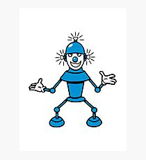 Robot funny cool light up comic fun Photographic Print