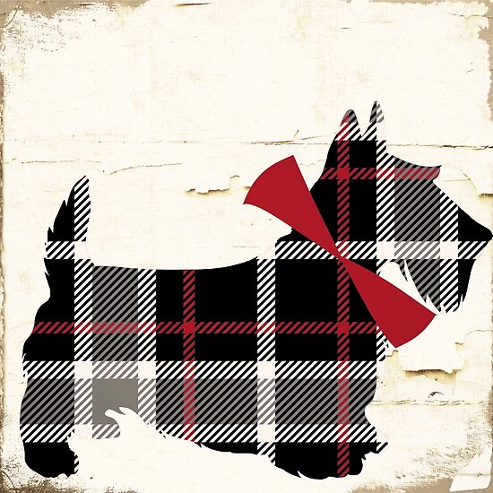 Scottish Terrier Plaid II by mindydidit